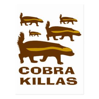 Honey Badger Cobra Killas Postcards