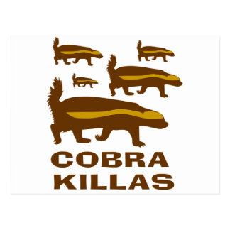 Honey Badger Cobra Killas Postcard