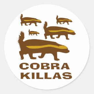 Honey Badger Cobra Killas Round Sticker