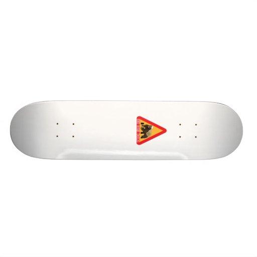 Honey Badger Crossing Sign - White Background Custom Skateboard