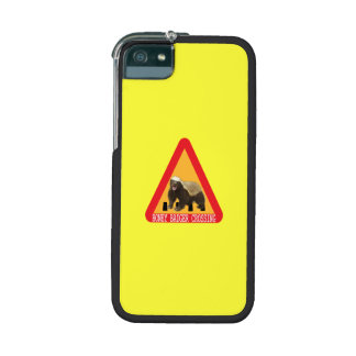 Honey Badger Crossing Sign - Yellow Background iPhone 5 Covers