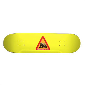 Honey Badger Crossing Sign - Yellow Background Skateboard