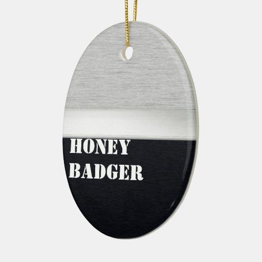 Honey badger ornaments
