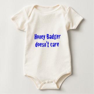 honey badger doesn't care baby bodysuit