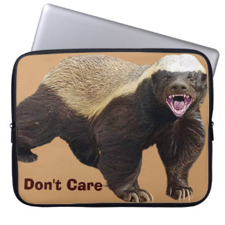 Honey Badger Don t Care Funny Cool Nasty Animal Laptop Computer Sleeves