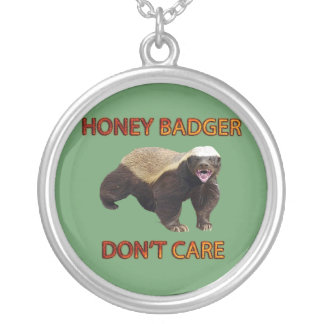 Honey Badger Don t Care Funny Cool Nasty Animal Necklaces