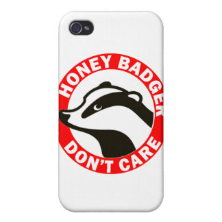 Honey Badger Don t Care iPhone 4/4S Cases