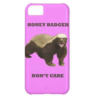 Honey Badger Don t Care On Bubblegum Pink Pattern iPhone 5C Covers