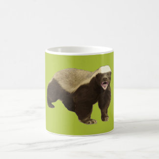 Honey Badger Don't Care Acid Green Coffee Mugs