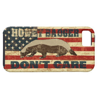 Honey Badger Dont Care American Flag iPhone 5 Cases