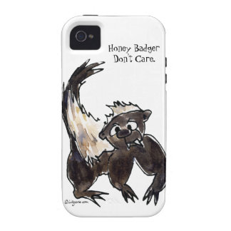 Honey Badger Don't Care Cartoon Case Mate Vibe Vibe iPhone 4 Covers