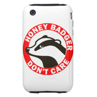 Honey Badger Don't Care Tough iPhone 3 Cases