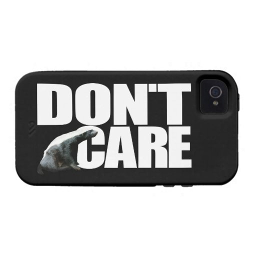 Honey Badger Don't Care iPhone 4 Cases