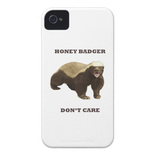 Honey Badger Don't Care iPhone 4 Case-Mate Case