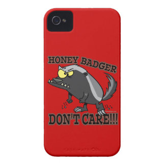 HONEY BADGER DONT CARE FUNNY CARTOON Case-Mate iPhone 4 CASES