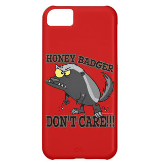 HONEY BADGER DONT CARE FUNNY CARTOON iPhone 5C CASE