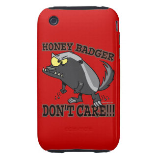 HONEY BADGER DONT CARE FUNNY CARTOON iPhone 3 TOUGH COVERS