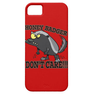 HONEY BADGER DONT CARE FUNNY CARTOON CASE FOR THE iPhone 5