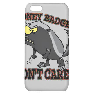 HONEY BADGER DONT CARE FUNNY CARTOON COVER FOR iPhone 5C