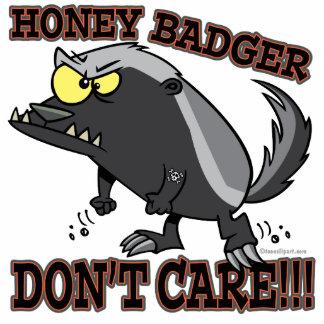 HONEY BADGER DONT CARE FUNNY CARTOON PHOTO SCULPTURES