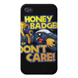 Honey Badger Don't Care Covers For iPhone 4