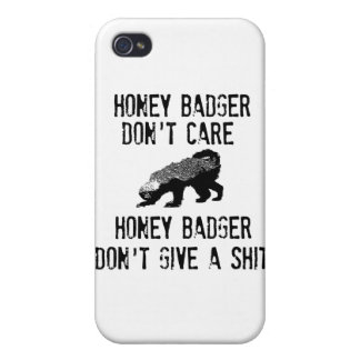 Honey Badger Don't Care iPhone 4/4S Cover