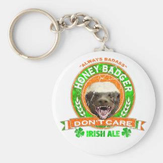 Honey Badger Don't Care Irish Ale Label Key Chains