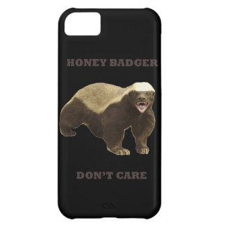 Honey Badger Don't Care On Black Background. Funny iPhone 5C Cases