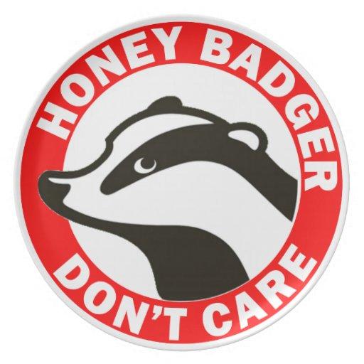 Honey Badger Don't Care Plate