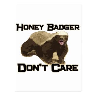 Honey Badger Don't Care Post Card