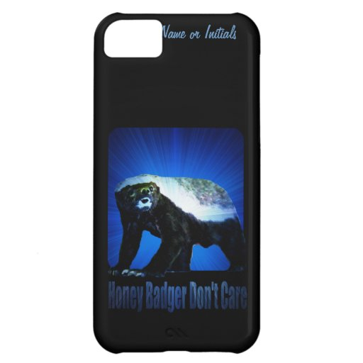 Honey Badger Don't Care - Star Rays Blue iPhone 5C Cases