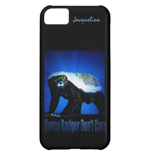 Honey Badger Don't Care - Star Rays Blue iPhone 5C Case