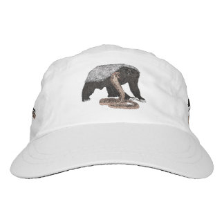 Honey Badger Faces Snake Fearless Animal Design Hat