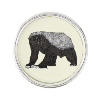 Honey Badger Fearless With Attitude Animal Design Lapel Pin