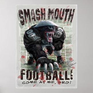 Honey Badger Football Poster