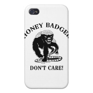 Honey Badger for light colored products Cover For iPhone 4