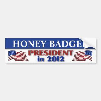 Honey Badger for President in 2012 Car Bumper Sticker