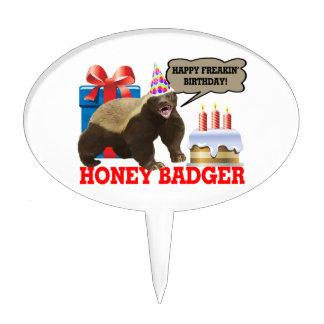 Honey Badger Happy Freakin' Birthday Cake Picks