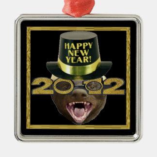 Honey Badger Happy New Year 2012 Ornament