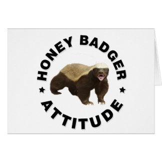Honey badger has attitude greeting card