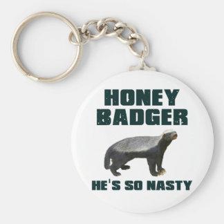 Honey Badger He s So Nasty Keychains