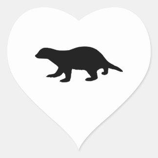 Honey Badger Heart Sticker