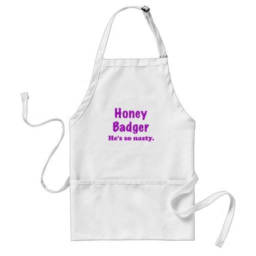 Honey Badger Hes So Nasty Apron