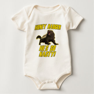 Honey Badger He's So Nasty Baby Bodysuit