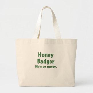Honey Badger Hes So Nasty Canvas Bag