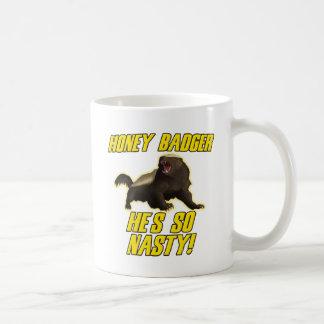 Honey Badger He's So Nasty Coffee Mug