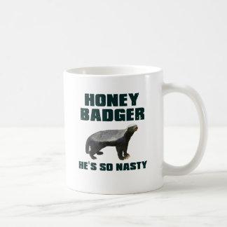 Honey Badger He's So Nasty Mug