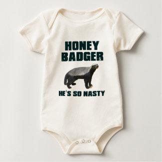 Honey Badger He's So Nasty Bodysuits