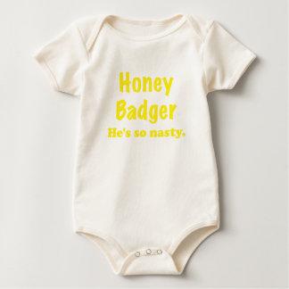 Honey Badger Hes So Nasty Baby Bodysuits