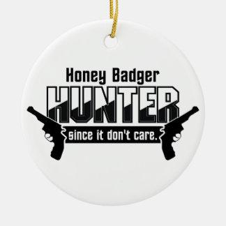 Honey Badger Hunter custom ornament